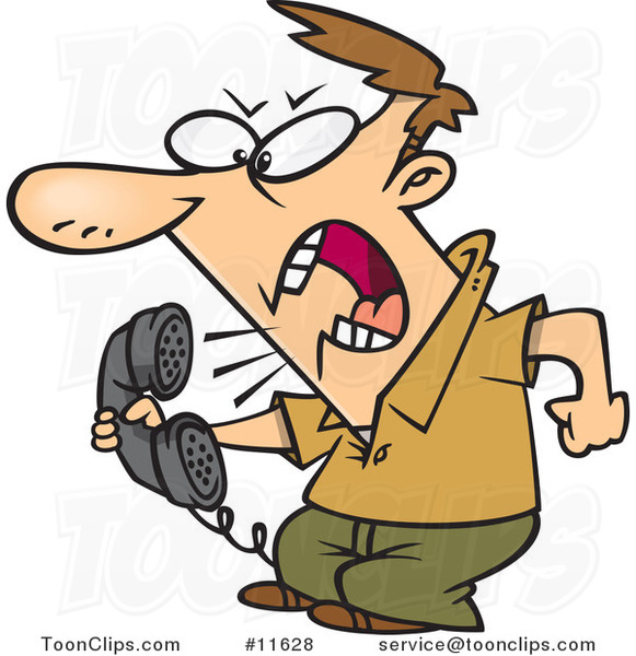 cartoon-irate-guy-screaming-into-the-phone-by-ron-leishman-11628