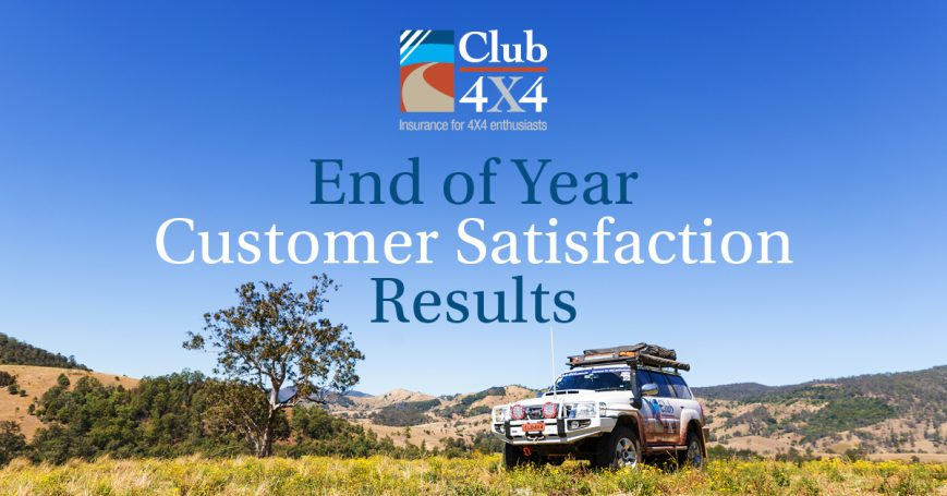 Club 4x4 End of year customer satisfaction