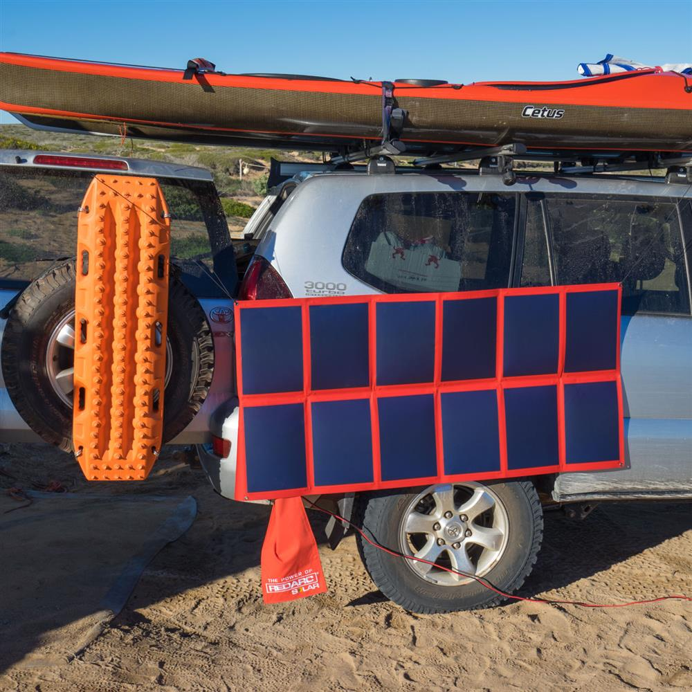 Get more power wherever you travel with REDARC's solar blankets (it even comes in a pretty red colour)