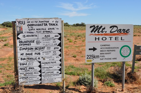Outback Australia signs