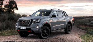 Grey 2021 Navara mid-sized LCV