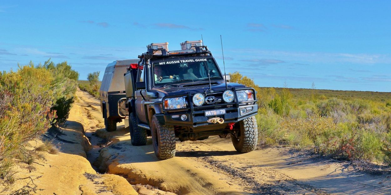 4x4 on the road